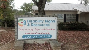 Disability Rights and Resources Jasper Office Sign