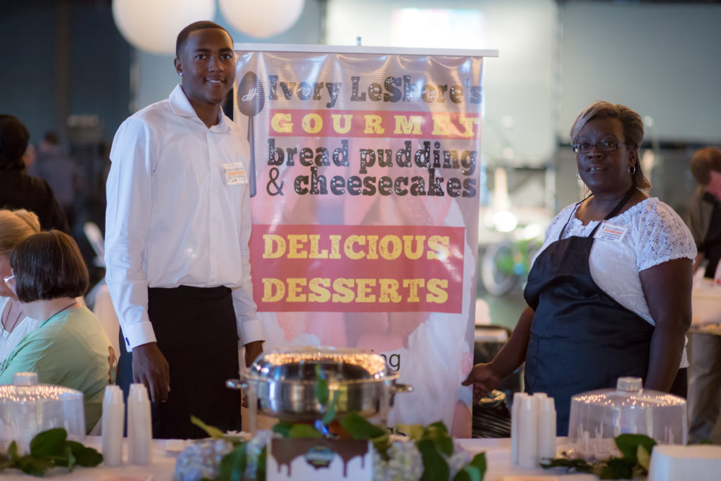 Photo of Winner of People's Choice Ivory LeShore's bread pudding & cheescakes